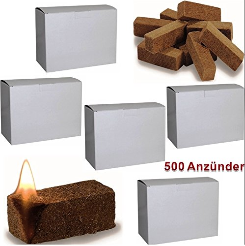 500 St Bio Anznder Grillanznder Kaminanznder Ofenanznder Holzfaser Und Wachs