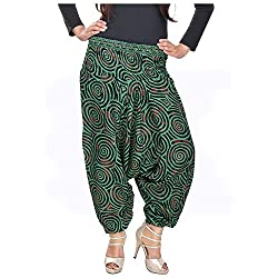 Soundarya Womens Regular Fit Harem Pants (AP2, Green)