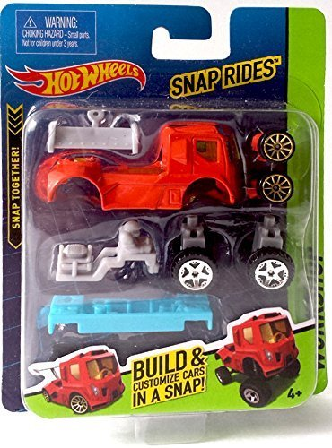 Snap Rides Team Hot Wheels RED Truck Custom Car Set - Create Build & Race by Hot Wheels Hot Wheels-snap