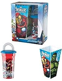 The Avangers Set Movie Box Kino Sportflasche Trinkflasche Pop Corn Basket Fan