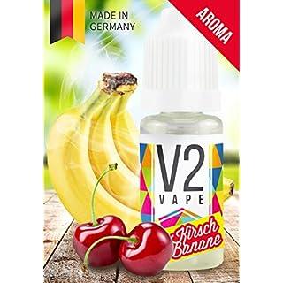 V2 Vape KiBa Kirsch Banane AROMA/KONZENTRAT hochdosiertes Premium Lebensmittel-Aroma zum selber mischen von E-Liquid/Liquid-Base für E-Zigarette und E-Shisha 10ml 0mg nikotinfrei