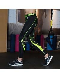 UrChoiceLtd® GIMNASIO QX Hombre Corriendo Deportes Pantalones Hombre Compresión Llevar Entrenamiento Ropa Rápida Seco Transpirable Cómodo Base De Leggings Elite Fitness Térmico Wow (S, Verde)