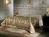 Bed Store Letto Matrimoniale in Ferro BATTUTO Modello Vittoria Avorio