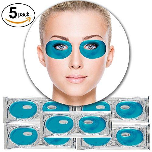 5 Paare Blaue Algen Kollagen Gel Kristall Augen Falten Masken Krähenfüße Straffend