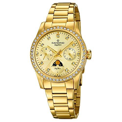 CANDINO Orologio da donna al quarzo C4689/2, cinturino in acciaio inox, Fashion Gold UC4689/2