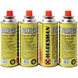 4 XBUTANE GAS CANISTER BOTTLES FOR PORTABLE HEATER COOKER CAMPING COOKING STOVE