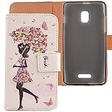 Lankashi PU Flip Leder Tasche Hülle Case Cover Schutz Handy Etui Skin Für Alcatel One Touch Pop Star 5022D 3G 5