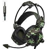 Gaming Headset, Noise Cancelling Stereo-Kopfhörer mit Mikrofon Bass ohrenumschließende Wired Kopfhörer für PS4, Neue Xbox One, Mobiltelefone, PC, Laptop Gamer