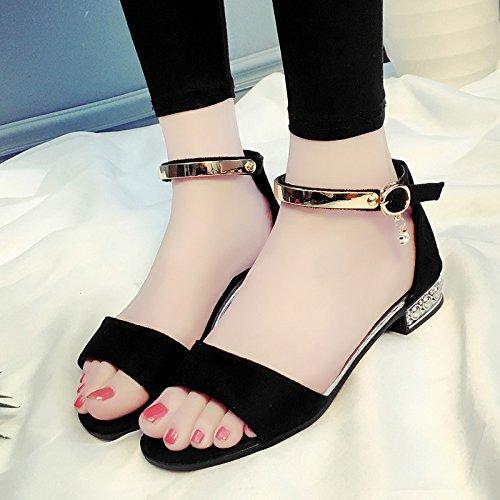 XY&GKDamen Sandalen Damen Sommer Schuhe 37 black sequins