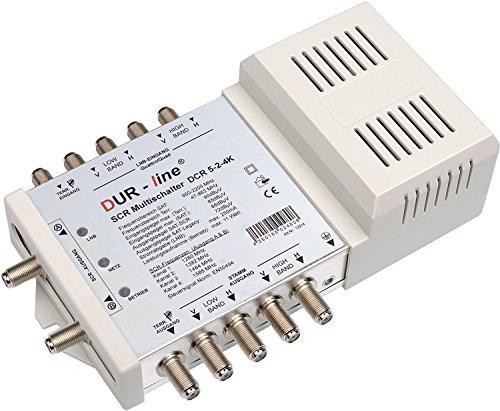 """DUR-line DCR 5-2-4-K SCR-Schalter - Einkabellösung für 2x4 SCR-Teilnehmer (Kaskadierbar) - 2x Test """"sehr gut"""""""