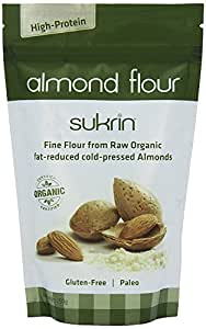 Sukrin Almond Flour, Gluten-Free, Low-Carb, Low-Fat, High-Protein Flour Substitute in baking or as a daily food supplement (250g)