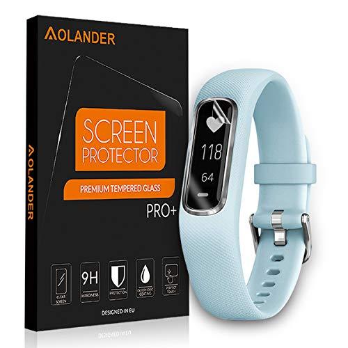 AOLANDER [6 Stück] Garmin Vivosmart 4 TPU HD Schutzfolie [volle Abdeckung][einfache blasenfreie Aufbringung][wasserabweisend schmutzabweisend] HD Bildschirmschutzfolie Folie klar für Garmin Vivosmart 4