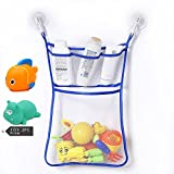 Kids Or Baby Bath Toy Organizer ,Toddlers Large Toy Storage Bag 2 Heavy Duty Lock Suction Cups Baby Bath Toy Mesh Net Storage Bag Organizer Holder (G)