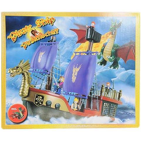 Eddy Toys 50753 - Barco pirata con figuras y accesorios (35 piezas)