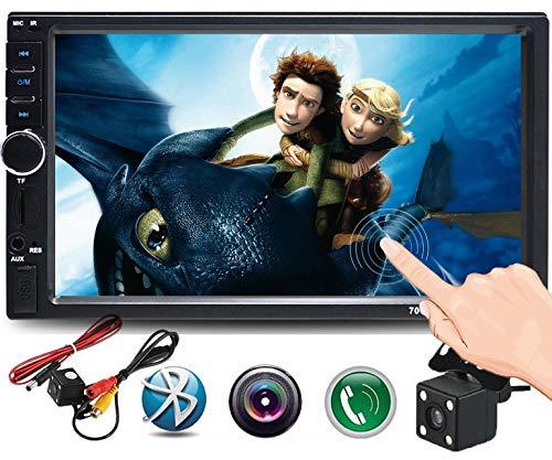 Cavogin Doppel-Din-Autoradio 17,8 cm (7 Zoll) Touchscreen Autoradio MP3/MP5/FM-Player unterstützt Bluetooth/USB/TF mit Fernbedienung