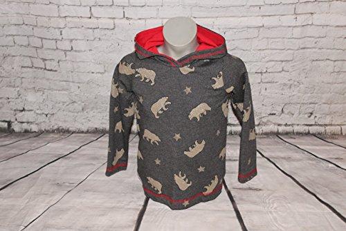 (Kapuzenpulli Hoodie Kapuzen-Pullover Bären Goldglitzer Gr. 98-104)