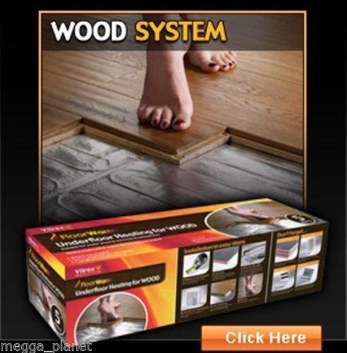 VITREX floorwarm IPX7eléctrico calefacción por suelo radiante alfombra para suelos de madera...
