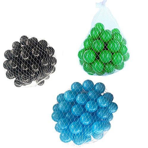 900 Bälle für Bällebad gemischt mix mit türkis, grün und schwarz