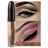 Weicici 13 Farben Glänzende Glitter Eyeliner Pigment Schimmer Eyeliner Charming Eyes