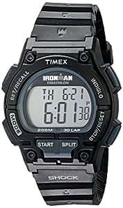 Timex -T5K196SU - Ironman Endure Shock 30 LAP - Quartz digitale Homme - Bracelet en résine noire
