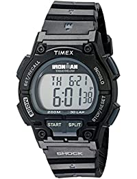 Timex Sport Ironman Fullsize Endure Shock 30 Lp Watch With Black/Blue Resin Strap - T5K196SU