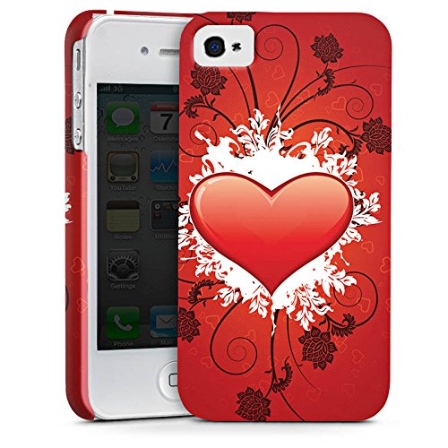 Apple iPhone X Silikon Hülle Case Schutzhülle Herz Muster Love Amore Premium Case glänzend