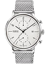 Dugena Herren-Armbanduhr Dessau Chronograph - Modern Classic Analog Quarz Edelstahl 7090239