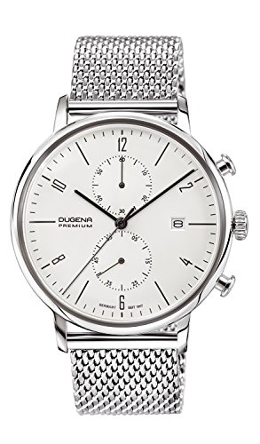 Dugena men's Quartz Watch Chronograph Display and Stainless Steel Strap 7090239