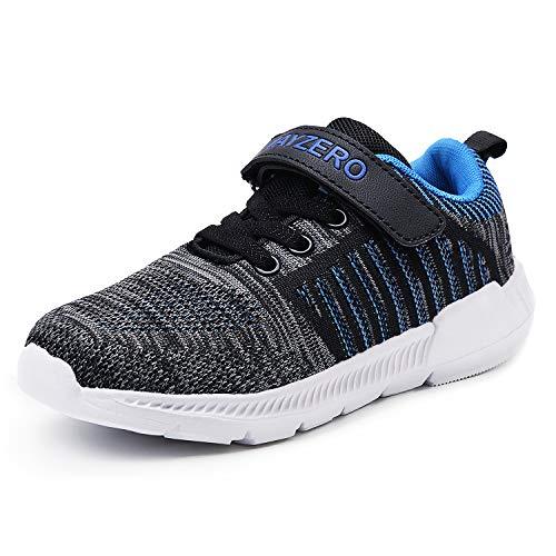 Lingmu Kids Running Tennis Schuhe Leichte Sneakers Jungen und Mädchen Casual Running - Tennisschuhe Klettverschluss