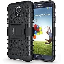 Funda Galaxy S5 ,Pegoo El Soporte Incorporado A Prueba de golpes Anti-Arañazos y Polvo Mezcla Doble Capa Armadura Proteccion Cover Case Caso Funda Cáscara Caja para Samsung Galaxy S5 (Negro)