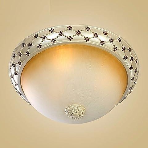 Continental luce da soffitto circolare camera da letto minimalista lampadina luce illumina la conformità con la resina Ristorante balcone , Illuminazione con un grande diametro 50 cm