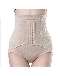 EITBA Mujer Bragas Fajas Reductoras Adelgazantes Moldeadoras Sin Costuras Push Up Colombianas Pantalon,Nude,M