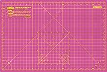 ANSIO A3de doble cara-5capas alfombrilla guía para cortar Imperial/métrica 18pulgadas x 12pulgadas/45CMX 30cm-Super Rosa/Lavanda morado
