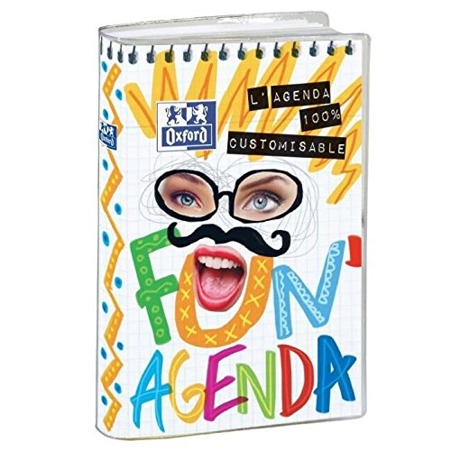 Oxford Fun - 1 Agenda Scolaire Journalier Août 2018 Août 2019 - 1 jour par page 352 pages 12 x 18 cm