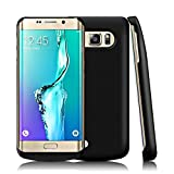 Power Akku Hülle Samsung Galaxy S6 Edge Plus 4200mAh Batterie,Casewin Samsung Galaxy S6 Edge Plus Handyhülle Smart Case Automatisch Magnetisch Absorption Akkucase Lithium-Polymer Battery