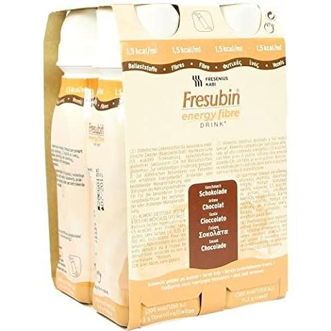 Fresubin ENERGY Fibre Drink Schokolade Trinkflasche, 4X200 m
