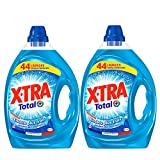 XTRA Total - Lessive Liquide - Lot de 2 x 2,2L - 88 lavages