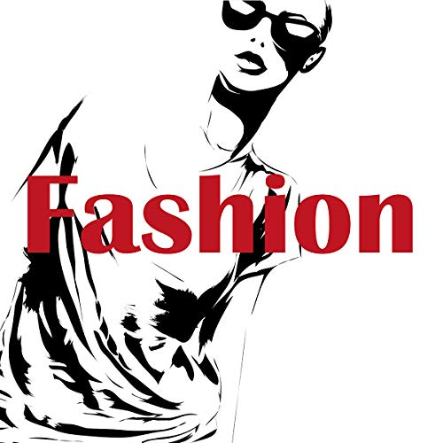 Postereck - Poster 2221 - Fashion Plakat, Mode Sonnenbrille Frau Paris Retro rot Größe 1:1-40.0 cm x 40.0 cm