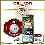 "Celkon C2233 Dual Sim 2.4"" Display 1.3MP Camera 1800 MAh Battery + Free Silver Coin"