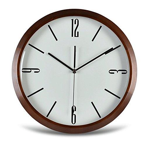 Vinteen Nordeuropa Wanduhr Moderne Einfache Kreativität Mode Massivholzrahmen Quarz Taschenuhr Wohnzimmer Stille Uhr Hohe Durchlässigkeit Runde Glas Taschenuhr