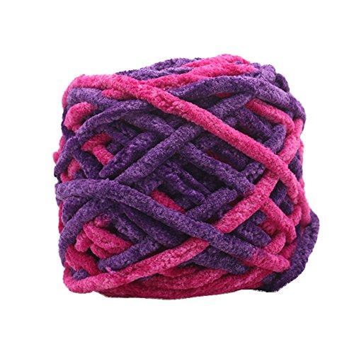 TianranRT Super Weich Glatt Natürlich Seide Wolle Garn Stricken Pullover Stricken Garn (H) (Chenille Bettdecke)