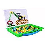 Newin Star Puzzle Mix Farbe Pilz Nägel Stecktafel Educational Building Blocks Bricks Kreativ DIY Mosaik Spielzeug Geburtstag Geschenk für Kinder