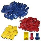 K24 206086 Set: 100 Abzweigverbinder 50 x blau-40 x rot-10 x gelb/Schnellverbinder / Stromdieb