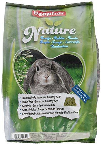 Nature Kaninchen | Getreidefreies Kaninchenfutter | Mit getrockneten Kräutern & kanadischem Timothy Heu | Ohne Konversierungsstoffe | 3 kg -