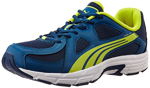 Puma Men's Axis v3 Ind. Poseidon, Sulphur Spring and White Running Shoes - 6 UK/India (39 EU)