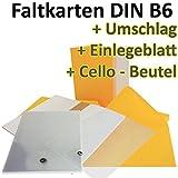 50 Stück // DIN B6 Faltkarten + Umschläge + Einlegeblätter + Cellobeutel // GELB // Größe: 23 x 17 cm (gefaltet 11,5 x 17 cm) // 240 g/qm // Aus der Serie FarbenFroh von NEUSER!