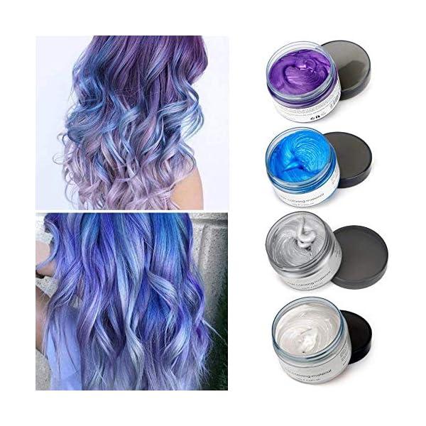 Cera para el cabello, Crema para el pelo, MS.DAER temporal pelo Color cera de pelo profesional, para hombres mujeres con…