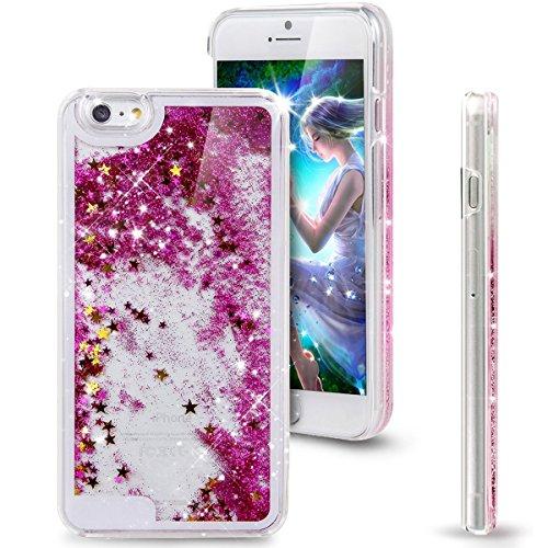 iPhone 6S Schutzhülle, iPhone 6S/6Liquid Fall, Nsstar Creative Design Flüssigkeit Schwimmende Bling Glitter Sparkle Sterne Herz Musik Note Hard Schutzhülle für Apple iPhone 6S (2015)/iPhone 6(2014) (2 Dollar I Phone 6 Fällen)