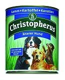 CHRISTOPHERUS Nassfutter LAMM und KARTOFFEL und KAROTTEN für ältere Hunde 800g