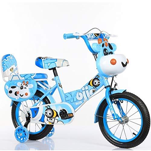 RENJUN Vélo for Enfants, Vélo Animal Mignon, Vélo Bébé De 12 Pouces Vélo d'enfant (Color : Sky-Blue)